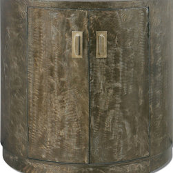 Uttermost - Uttermost 24261 Cesano Rustic Bronze 2 Drawer Metal End Table - Uttermost 24261 Cesano Rustic Bronze 2 Drawer Metal End Table