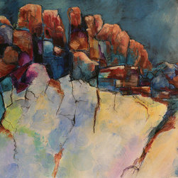 """Boulders I"" (Original) By Alicia Marie Short - I Enjoy Mixed Media And Translating Nature And Other Images Into Abstract Styles."