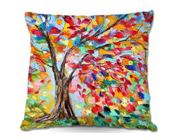 DiaNoche Designs - Pillow Woven Poplin - Poetry of a Tree - Toss this decorative pillow on any bed, sofa or chair, and add personality to your chic and stylish decor. Lay your head against your new art and relax! Made of woven Poly-Poplin.  Includes a cushy supportive pillow insert, zipped inside. Dye Sublimation printing adheres the ink to the material for long life and durability. Double Sided Print, Machine Washable, Product may vary slightly from image.