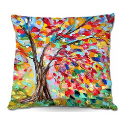 DiaNoche Designs - Pillow Woven Poplin from DiaNoche Designs - Poetry of a Tree - Toss this decorative pillow on any bed, sofa or chair, and add personality to your chic and stylish decor. Lay your head against your new art and relax! Made of woven Poly-Poplin.  Includes a cushy supportive pillow insert, zipped inside. Dye Sublimation printing adheres the ink to the material for long life and durability. Double Sided Print, Machine Washable, Product may vary slightly from image.