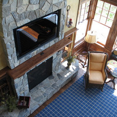 Traditional Living Room by Geneva Cabinet Company
