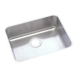 """Elkay - Elkay ELUHAD211550  Lustertone Undermount Sink - Elkay ELUHAD211550 21"""" x 15"""" x 5"""" Single Bowl Stainless Steel Undermount Sink"""