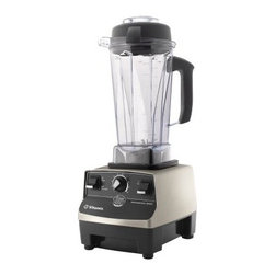Vitamix CIA 1709 Professional Series Blender - Brushed Stainless - As the Vita Mix CIA 1709 Professional Series Blender - Brushed Stainless was designed by top chefs, meaning actual, working chefs, you can trust that when you need something mixed, ground, or blended, you know you can get the job done. Designed with a simple and intuitive multi-power system, this blender can handle all of your standard liquid-blending needs in the 48-ounce container, but when you need to grind dry grains or simulate the motion of kneading, you can swap it out for the 38-ounce container - and you're on your way to fresh bread. The stainless steel housing isn't just there for looks, as any chef will tell you that toughness equals longevity, and stainless steel is in it for the long haul. Open up one of the three included cookbooks and let CIA-trained chefs show you how to make the most of this versatile, countertop blender.