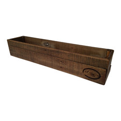Salt Wood Co. - Rustic Display Box - Perfect for transporting and displaying floral arrangements. Made from reclaimed wood with oxidized finish and hand wax. Depth of color varies naturally with wood.