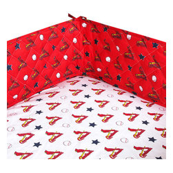 Sports Coverage Inc - MLB St Louis Cardinals Crib Bumper Baseball Baby Bedding - FEATURES: