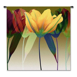 Home Decorators Collection - Tulip Tapestry - Bring together the look of your living room or bedroom with the vibrant colors of the Tulip Tapestry. The fine craftsmanship of this wall decor allows for precise detailing and a high level of quality. Update any area and buy now.Jacquard woven by artisans using the latest computer-based looms.Made in the U.S. of the finest 100% cotton.Tapestry rod and hanging hardware not included.