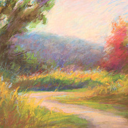 """Goose Neck Path"" (Original) By Janet Howard-Fatta - I Painted This Piece En Plein-Air (Outside) With Pastels. It Was Indian Summer, And The Grasses Had Begun To Yellow, And Some Of The Foliage To Turn. The Color In This Piece Is Brilliant, Yet Delicate Just Like That Morning.J"