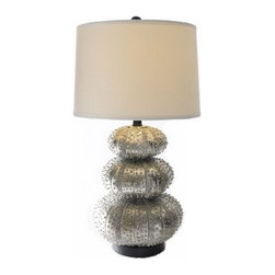 Luminous Lights - Organic Contemporary styled lamp in a metallic finish.