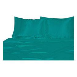 Ultra Soft Satin Silk Duvet Cover Full , Aqua Blue - You are buying 1 Duvet Cover (88x88 )  only.