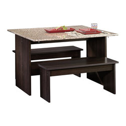 Sauder - Sauder Beginnings Table with Benches Cnc in Cinnamon Cherry - Sauder - Dining Sets - 413854