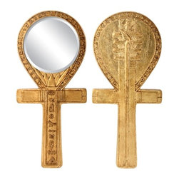 Summit - Djed Ankh Mirror Egyptian Decoration Accessory Decoration Collectible - This gorgeous Djed Ankh Mirror Egyptian Decoration Accessory Decoration Collectible has the finest details and highest quality you will find anywhere! Djed Ankh Mirror Egyptian Decoration Accessory Decoration Collectible is truly remarkable.