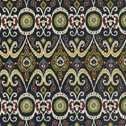 Schumacher - Bokhara Ikat Weave Fabric, Ebony - 2 Yard Minimum Order