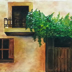 """Mexican Balcony"" (Original) By Aurora Vite - I Was Inspired By Mexican Culture And Magic Of Color And Realism Of The History Of Mexico. All The Mexican Things Are Magic."