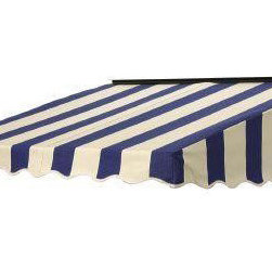 NuImage Awning 60 In. X 41 In. Fabric Door Canopy - Adding an awning or two or four to your home is a great way to add instant cottage charm. Think Martha's Vineyard.