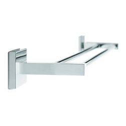 "Croydex - Croydex QB512941 Brompton Double Towel Rail 26"" in Chrome - Croydex QB512941 Brompton Double Towel Rail 26"" in ChromeElegant, stylish and with a touch of class! Brompton is a high quality range of bathroom accessories that are brass construction, but beautifully finished in high quality chrome. A favourite for any design of bathroom!Croydex QB512941 Brompton Double Towel Rail 26"" in Chrome, Features:• Durable brass construction with high quality chrome plated finish."