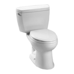 Toto - Toto CST744EG#01 Cotton White Eco Drake Toilet, 1.28 GPF SanaGloss - The Drake series gives a simple, sleek style to any bath with its variety of options and finishes.