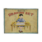 Japanese Drawing Set - Antique child's drawing set by Seco of Japan, made in the 1930's, in original box.
