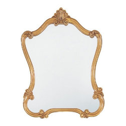 Uttermost - Walton Vanity Hall Mirror - 26W x 36H in. - 08340 P - Shop for Mirrors from Hayneedle.com! The Walton Hall Mirror is a refined elegant piece. Curvaceous scrolls create an hourglass shape and shell accent at the top. The frame of this beveled mirror is enveloped in a beautiful antique speckled gold wash.Here's what you need to know to hang your new Uttermost Mirror. Hanging a mirror even if it is a large heavy piece is not a problem if you have the right hanging hardware and a hammer. The best hanging hardware for most walls is the J-hook. It is designed to keep the nail that goes into the wall at a sharp angle so that even in drywall it will stay in place. It is important that the J-hook be properly weighted for the item you want to hang. On all Uttermost products the proper J-hook and nails are included to make sure you have exactly the hardware you need for hanging each piece. On the largest Uttermost mirrors we provide a self-leveling adjustable J-hook. With this hardware even if the item is slightly uneven the hangers can be adjusted without moving the nails from the wall.About UttermostThe mission of the Uttermost Company is simple: to make great home accessories at reasonable prices. This has been their objective since founding their family-owned business over 30 years ago. Uttermost manufactures mirrors art metal wall art lamps accessories clocks and lighting fixtures in its Rocky Mount Virginia factories. They provide quality furnishings throughout the world from their state-of-the-art distribution center located on the West Coast of the United States.