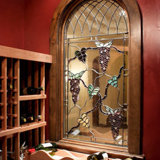 Traditional Wine Cellar by Gayle Berkey Architects