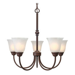Grace 5 Light Chandelier, Rubbed Bronze