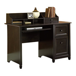 Sauder - Sauder Edge Water Computer Desk in Estate Black - Sauder - Home Office Desks - 409043 -