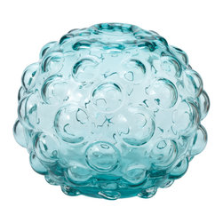 Lazy Susan - Aqua Morning Dew Vase, Large - -Handcrafted