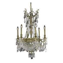 "PWG Lighting - Telfour 9-Light 22""D Crystal Chandelier 7913D22FG-EC - Cast brass arms and finely detailed rings and center columns accented by glamorous crystal beading evoke royalty in this Telfour Collection. Coordinating crystal baskets complement these stately designs."