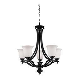 Z-Lite - Z-Lite Lagoon Chandelier X-ZRB-5-207 - With its unique bowl-shaped shades, this stunning five light chandelier complete with a bronze finish will dazzle your home.