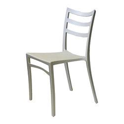 ARTeFAC - Stackable Modern Chair for Indoor/Outdoor in 6 Colours, White - R-2015 Stackable Modern Chair for Indoor/Outdoor in Red