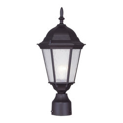 Livex Lighting - Livex Lighting 7558-07 Outdoor Post Head - Glass Type/Shade Type: Clear Water Glass