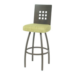 Trica - Trica Tristan Swivel Bar Stool, 30 Inches (Bar Height) - *Available in counter, bar or spectator height