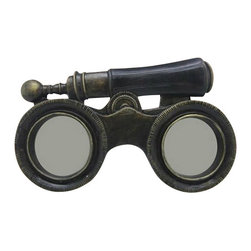 "Binoculars Picture Frame - The binoculars picture frame measures 6.5"" x 4"". The base of this item is antique style binoculars. It has two round picture frames where the lenses would be located. It will add a definite nautical touch to whatever room it is placed in and is a must have for those who appreciate high quality nautical decor. It makes a great gift, impressive decoration  will be admired by all those who love the sea."