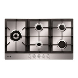 """Fagor - FA-850STX 30"""" Gas Cooktop With 5 Gas Burners  Electronic Ignition  3 Cast Iron E - FA-850STX 30 Gas Cooktop With 5 Gas Burners Electronic Ignition 3 Cast Iron Enameled Grate Triple Crown Burner Continuous Grates For Easy Cookware Movement  In Stainless Steel"""