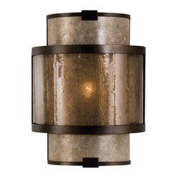 Fine Art Lamps - Fine Art Lamps 618050ST Singapore Moderne Patinated Bronze Coupe - 1 Bulb, Bulb Type: 60 Watt Candelabra; Weight: 5lbs