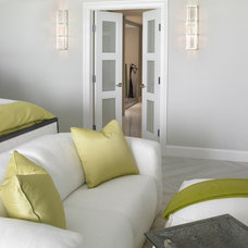 Modern Bedroom by Sheryl Bleustein Interiors