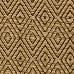 Diamond Rug Brown and Khaki - Another fabulous Dash & Albert outdoor rug to cushion bare feet and add spectacular definition to your personal outdoor summer setting.