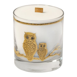 Craft Caboodle - Consigned Vintage Candle, Wood Wick in Culver Glass, Grapefruit Mangosteen - Tangy grapefruit and mangosteen, a citrusy fruit, sweet with a hint of peach.