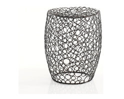 WS Bath Collections - Scagni 53710 - Scagni by WS Bath Collections Stool Burnished Metal