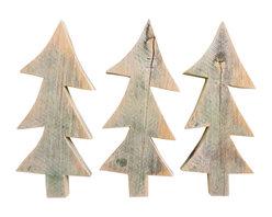 Souvenir Farm, Ltd. - Whimsical Barn Wood Christmas Trees, Set of 3 - Use this SET OF 3 whimsical barn wood Christmas tree cutouts for primitive Christmas crafts and holiday decorating.