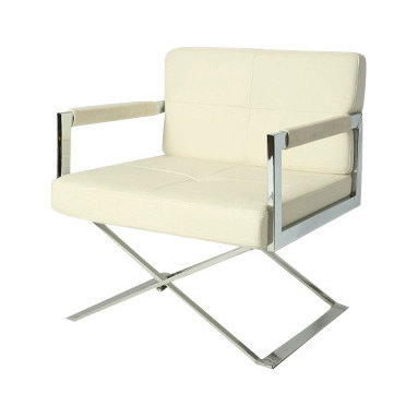 Pastel Furniture - Pastel Decumani Club Chair - Chrome Base - PU Ivory Seat - The Decumani Club chair in a smart and modern design blends quality, value, style as well as comfort to any room. This chair is upholstered in PU Ivory with Chrome frame adding not only a stylish look but modern appeal as well.