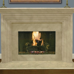 Nouvelle Corniche #307 Hand Carved Natural Stone Fireplace Mantel - The Nouvelle Corniche #307 Hand Carved Natural Stone Fireplace Mantel is available in Travertine and is manufactured to fit your exact specifications.