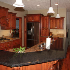 Craftsman Kitchen Countertops by Dick's Custom Cabinets