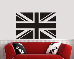 ColorfulHall Co., LTD - Vinyl Wall Decals Modern City Series UK Flag - Vinyl Wall Decals Modern City Series UK Flag
