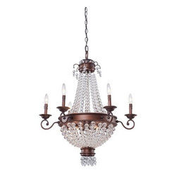 "Artcraft Lighting - Artcraft Lighting CL1366 Bronze Chandelier from the Cobochon Collection - Cobi Ladner has delivered another hit lighting collection called the ""Cobochon"" collection. Featuring tapering sphere jewels on a bronze frame. An instant classic!  Features:"