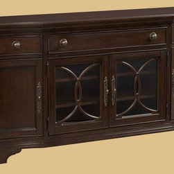 "ART Furniture - Devonshire Entertainment Console - 191423-2106 - Cherry veneers distressed through dry brushing, cowtails, fly specs, water marks and worm holes, define the casual, ""passed-down through the generations"" feel of this collection."