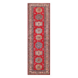 Rugsville - Rugsville  Kazak Red Ivory Wool 16510-5779 Rug 5.7x7.9 - Our Super Kazak collection carries some of the finest pieces weaved in the Orient! These Kazaks are a modern shape