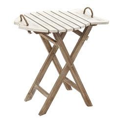 Simple Exquisite Wood Folding Table - Description: