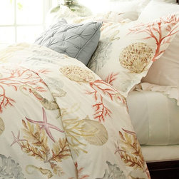 Atlantic Duvet Cover + Sham - This sea-themed bedding would be beautiful for a summer guest room.