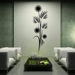 StickONmania - Plant Design #9 Sticker - A cool vinyl decal wall art decoration for your home  Decorate your home with original vinyl decals made to order in our shop located in the USA. We only use the best equipment and materials to guarantee the everlasting quality of each vinyl sticker. Our original wall art design stickers are easy to apply on most flat surfaces, including slightly textured walls, windows, mirrors, or any smooth surface. Some wall decals may come in multiple pieces due to the size of the design, different sizes of most of our vinyl stickers are available, please message us for a quote. Interior wall decor stickers come with a MATTE finish that is easier to remove from painted surfaces but Exterior stickers for cars,  bathrooms and refrigerators come with a stickier GLOSSY finish that can also be used for exterior purposes. We DO NOT recommend using glossy finish stickers on walls. All of our Vinyl wall decals are removable but not re-positionable, simply peel and stick, no glue or chemicals needed. Our decals always come with instructions and if you order from Houzz we will always add a small thank you gift.