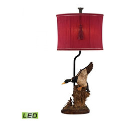 Dimond - One Light Whitsun Red With Cream Liner, Faux Silk Shade Table Lamp - One Light Whitsun Red With Cream Liner, Faux Silk Shade Table Lamp